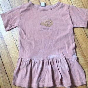 Vintage little girls tunic/dress w/ sunflowers